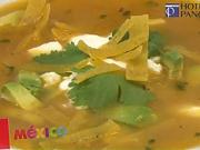 Mexická polévka - recept na mesickú polévku Sopa Azteca