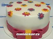 Mašle na dortu - vyroba mašle na boku dortu