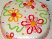 Květinový dort - jak vyzdobit dort