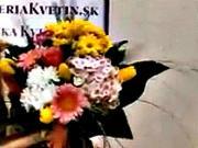 Jak se váže kulatá kytice
