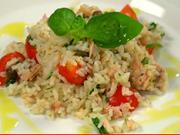 Tuňákový salát - recept na rýžový salát s tuňákem a kapary