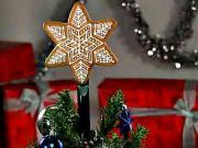Perníková vánoční hvězda - hvězda na stromeček z perníku