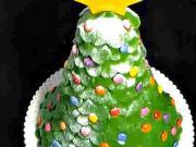 Vánoční stromeček jako dort