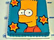 Dort Bart Simpson - návod na dort s Bártou