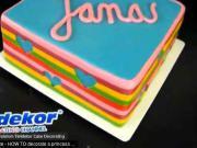Pruhovaná dort - jak udělat barevný pruhovaný dort