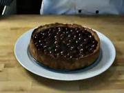 Tvarohovo - višňový koláč - recept na tvarohový koláč s višněmi