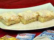 Řezy Ole s ananasem - recept na trasené řezy Olé s ananasem