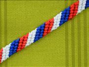 Pletený náramek - jako si uplést trojbarevný naramok