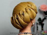 Svatební učes pro středně dlouhé vlasy