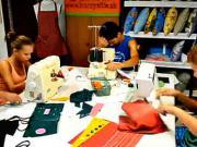 Děti za šicím strojem-Šití - Kurz šití