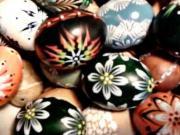 Vajíčka zdobené voskem