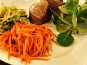 Vepřová panenka se zeleninovými špagetami - recept