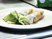 Závitky s rybou - recept na závitky s rybou a zeleným salátem