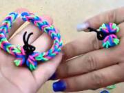 Prstýnek a náramek s motýlem z gumiček