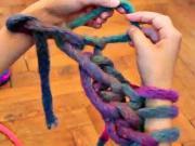 Pletení rukama s přízí MAXIMA