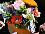 Květinová dekorace v dýni