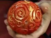 Polystyrenové vintage koule - dekorování