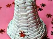 Zvonek z papíru - papírové pletení - pletení z papíru