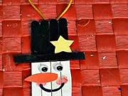 Mini snehuliak na vánoční stromek