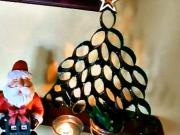 Vánoční stromek z role toaletního papíru (DIY)