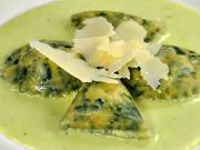 Špenátové ravioli s ricottou - recept