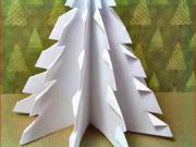 Jednoduchý vánoční stromek z papíru
