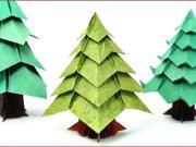 Vánoční stromek z papíru