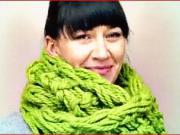 Pletená šála- jak si uplést rukama šálu do 30 minut