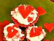 Valentýnské svíčky jako koláčky