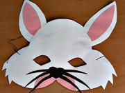 Zajíc - karnevalová maska z papíru