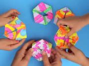 Papírová skládačka - Flextangles geometrická skládačka z papíru