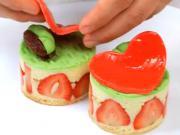 Jahodové dortíky - recept