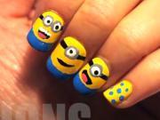 Mimions na nehtech - Minions postavičky na nehtech - Jak nalakovat Mimoň postavičku na nehty