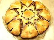 Nutellový koláč ve tvaru hvězdy - recept na koláč z lineckého těsta ve tvaru hvězdy s nutellou