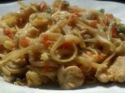 Asijské nudle s kuřecím masem - recept