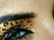 Leopardí líčení - líčení na halloween