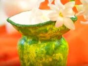 Ubrousková technika - polystyrenové vázy