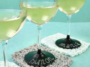 Personalizované poháry - značení sklenic barvou na tabuli