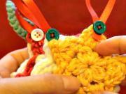 Háčkovaná hvězda - ozdoba na vánoční stromeček
