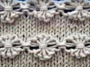 Květinový vzor - pletení květinového vzoru