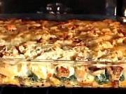 Zapečený chléb se špenátem a sýrem - recept