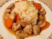 Vepřové / kuřecí soté - recept na vepřové soté s mrkví a žampiony