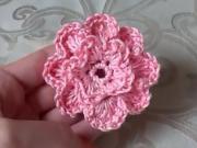 Háčkovaný květ - jak se háčkovat 3D květ