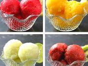 4x ovocný sorbet - recept na mraženou ovocnou dřeň - sorbet