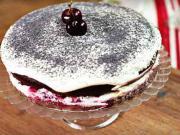 Višňově-makový dort - recept na višňově-makový dort