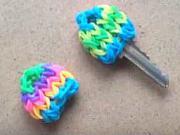 Kryt na klíče z gumiček - barevný rozlišovač klíčů