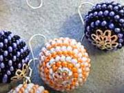 Háčkované kuličky z korálků