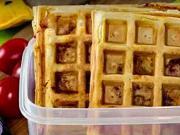 Slané wafle - recept na wafle se sýrem, šunkou a cherry rajčátky