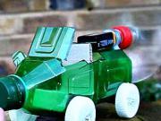 Auto z plastové láhve - jak si vyrobit auto na vzdušný pohon - DIY