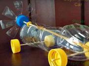Mini auto z plastové láhve na gumičkový pohon - jak si vyrobit auto na gumičkový pohon - DIY